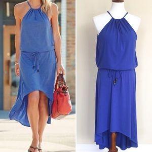 ATHLETA Malti Maxi Dress w/ Shelf Bra Large Blue